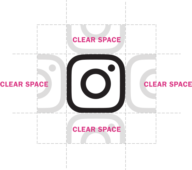 Instagram logo 2016 png. Brand resources clear space