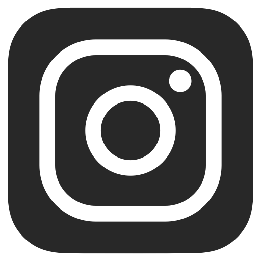 Instagram logo black and white png. Transparent on dark grey