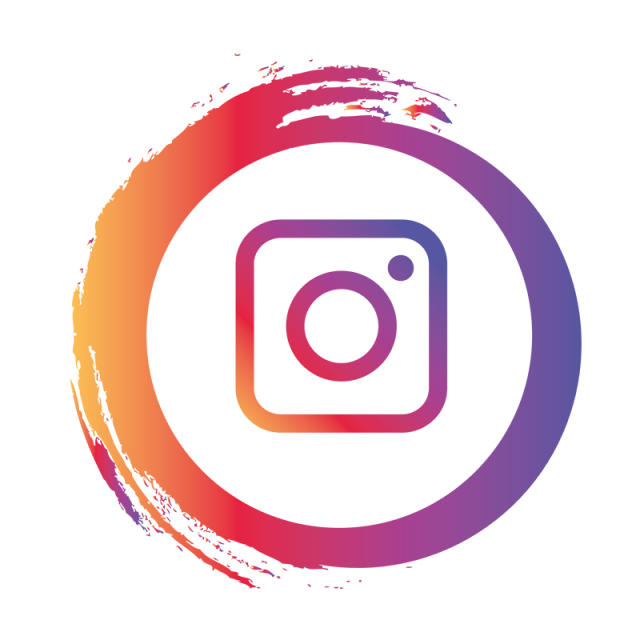 Vector instagram business card. Icon logo ig social