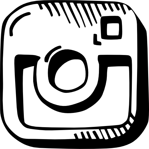 vector instagram black