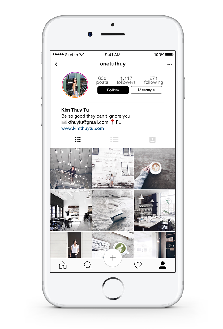 Instagram profile photo png. Ios redesign kim thuy