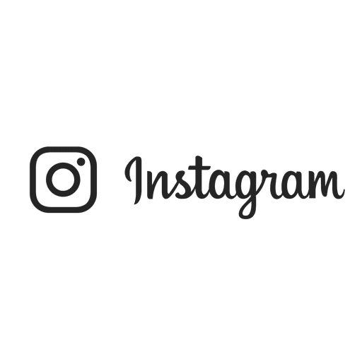 Instagram text png. Silhouette stroke logo transparent