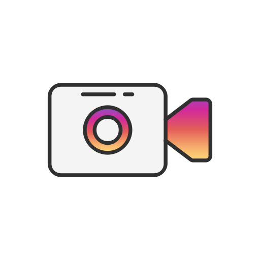 Instagram video png. Ui colored by vectto