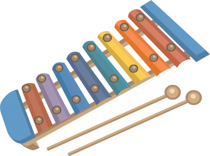 Xylophone clipart musical instrument. Free instruments clip art