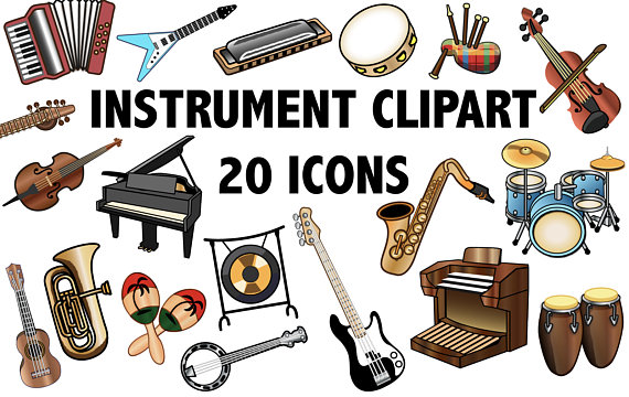 Instruments clipart band instrument. Musical at getdrawings com
