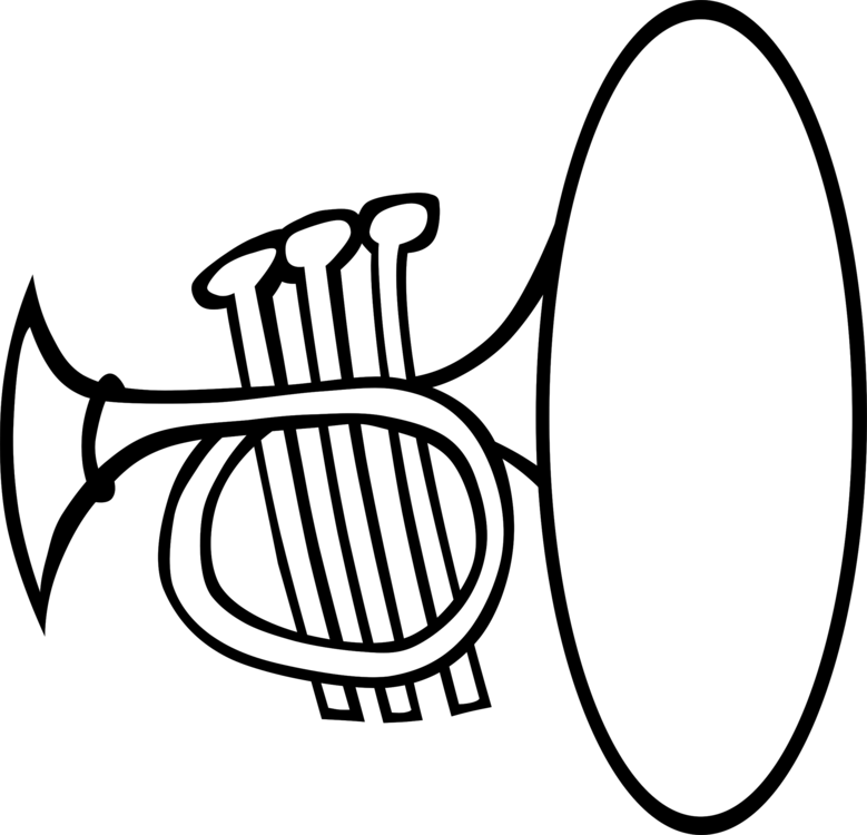 Instruments clipart band instrument. Musical black and white