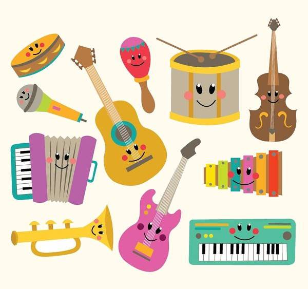 Instruments colorful