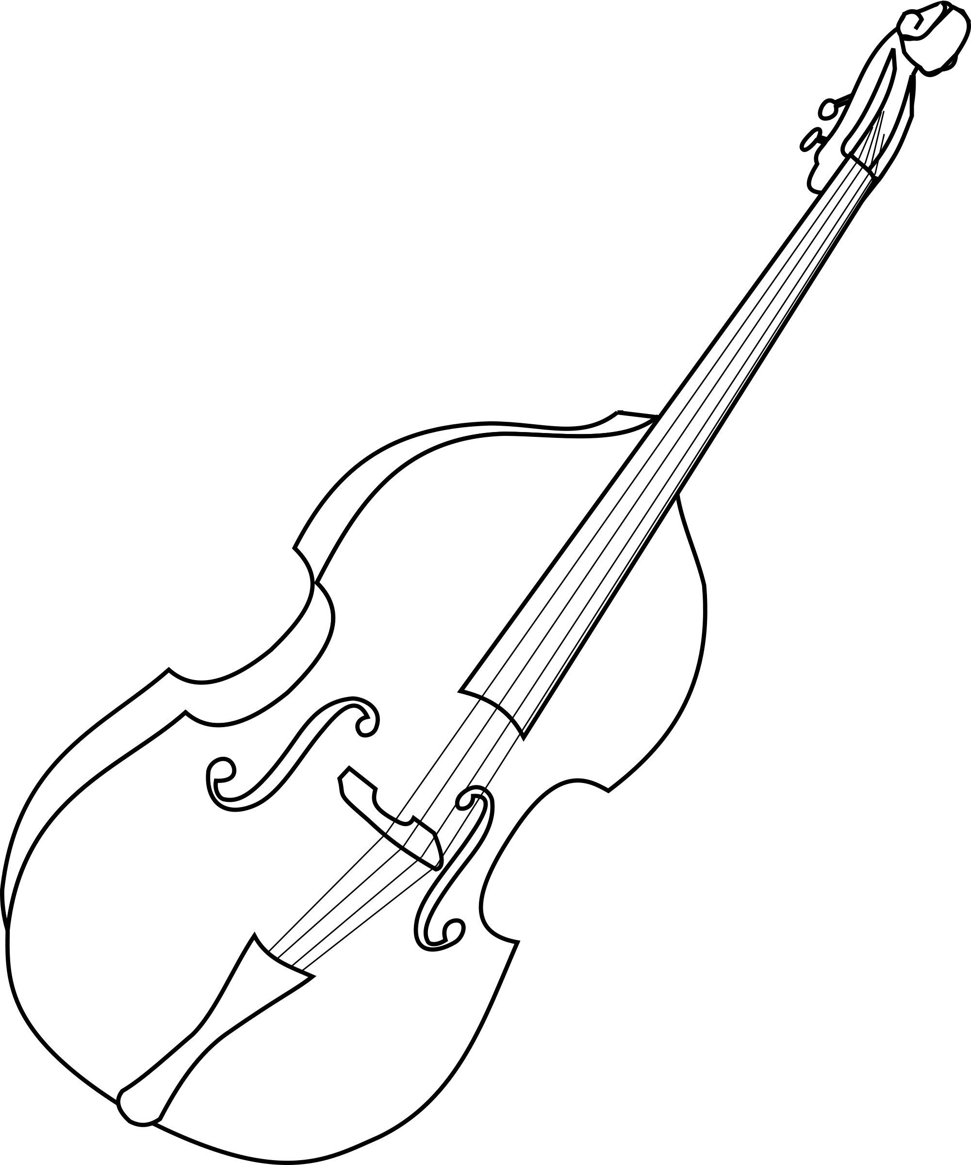 Instruments clipart double bass. Big image png