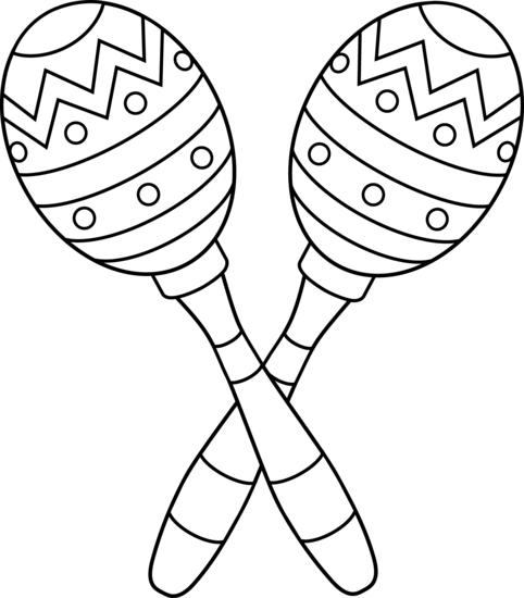 Outline instruments lesson preschool. Maracas drawing image free library