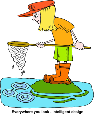 Net clip fish. Image girl with fishing