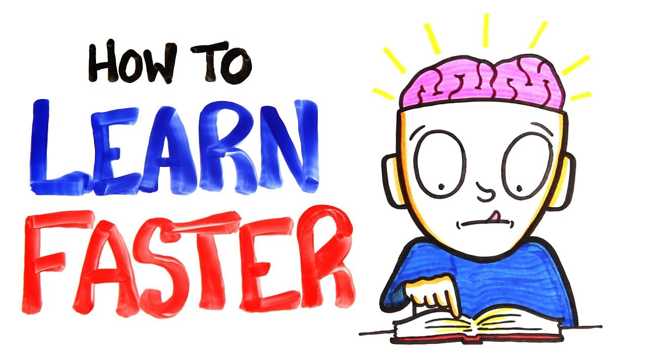 Intelligent clipart successful student. How to learn faster