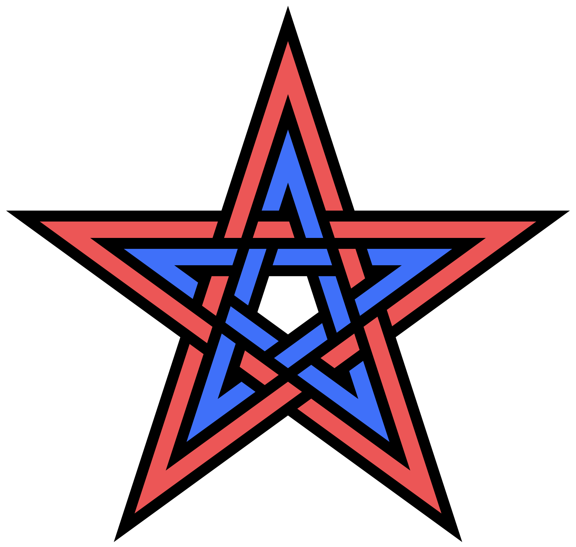 Interlaced png. File double interlaced pentagram