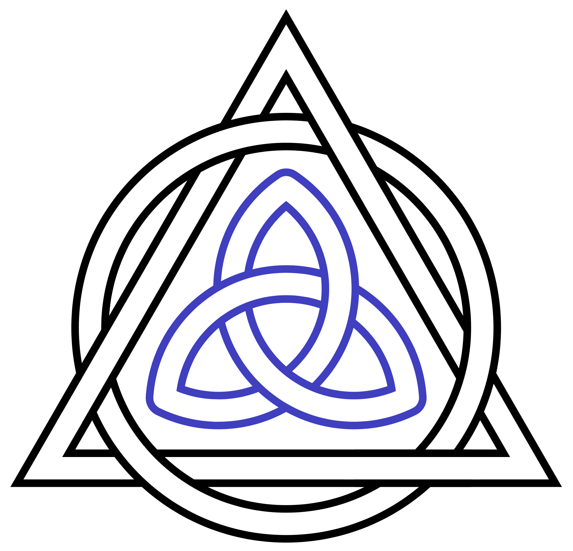 Interlaced png meaning. Px triquetra triangle