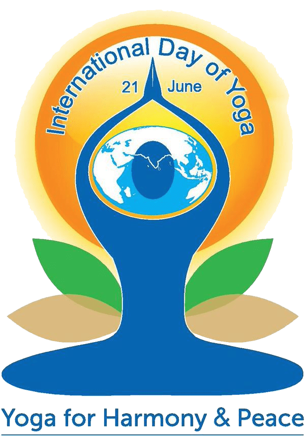 International day of yoga logo png. Happy grounding up