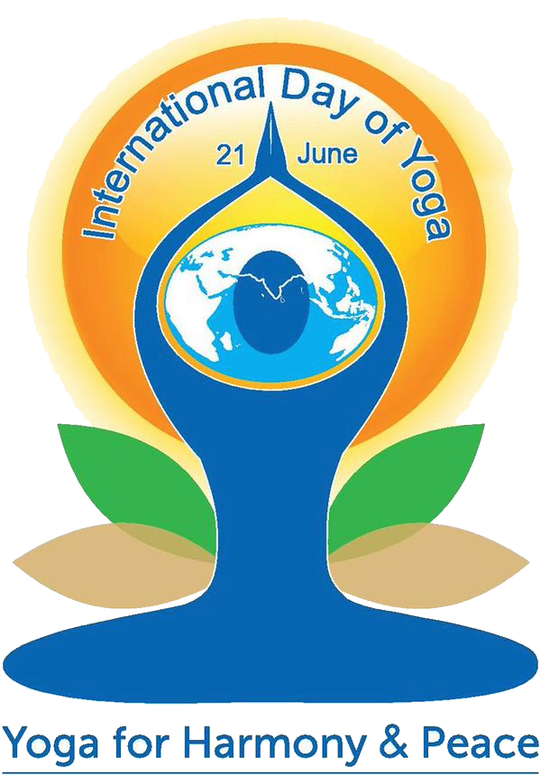 International day of yoga logo png. At the meditation center