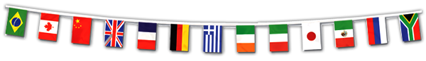 International flags banner png. Country study italy italian