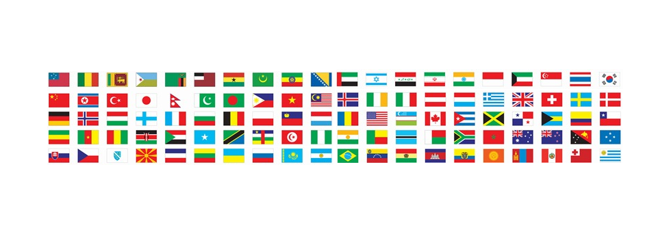 International flags banner png. Other countries party world