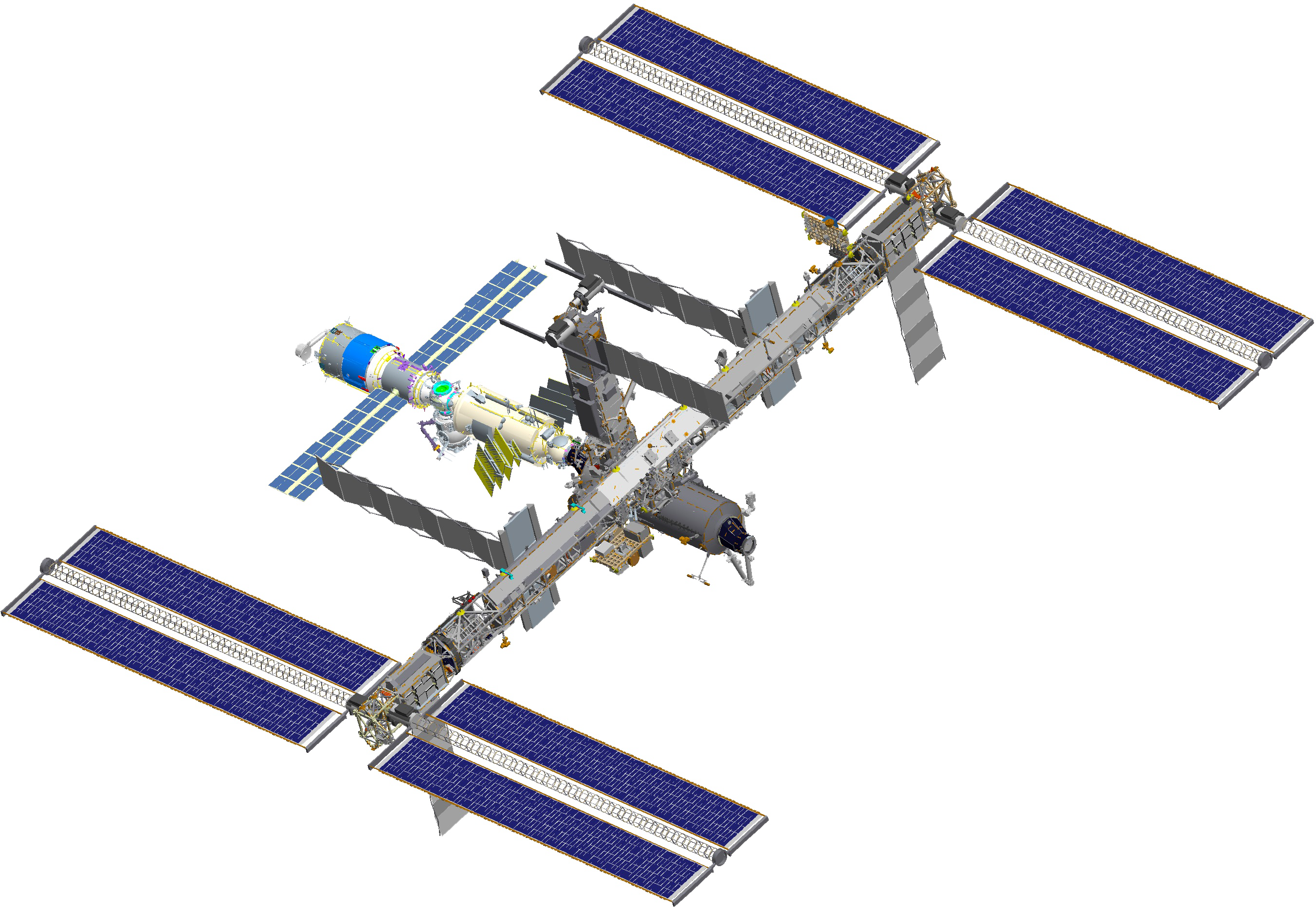 International space station png. File iss after sts