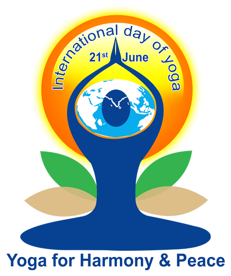 International yoga day logo png. Singapore th of