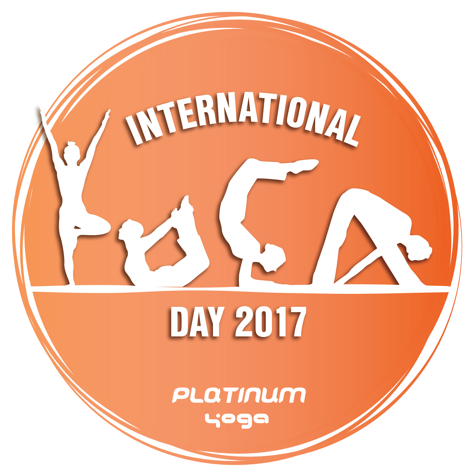 International yoga day logo png. Icon platinum studio