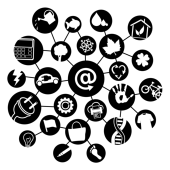 Internet clipart black and white. Of things computer network