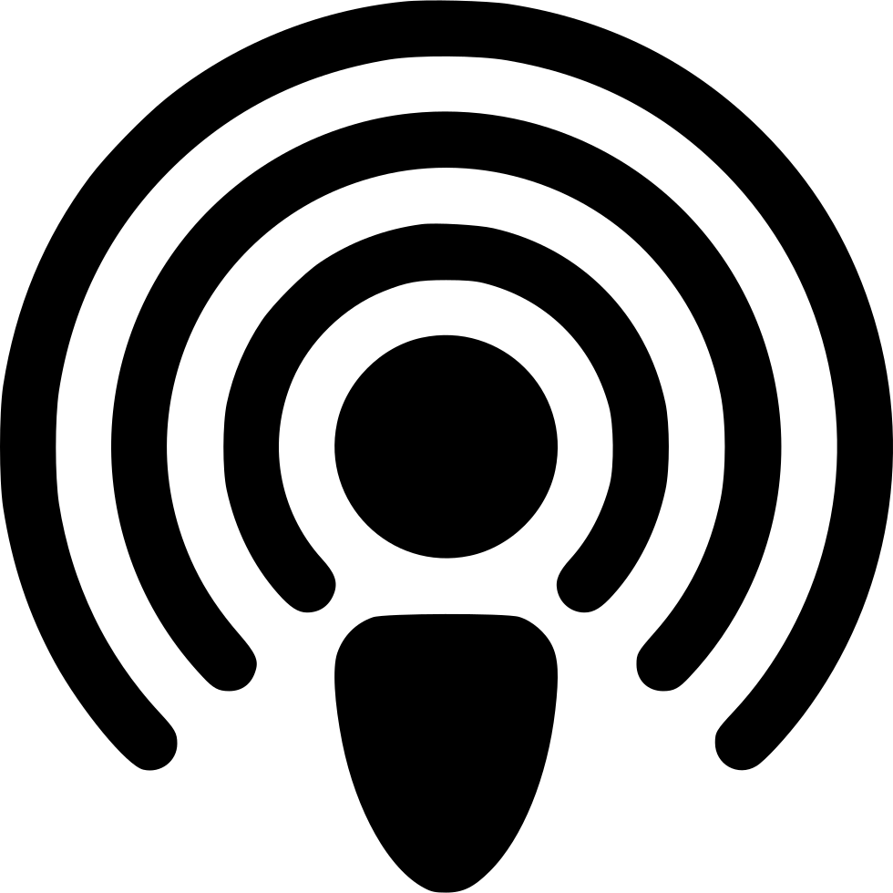 Radio antenna png. Connection podcast waves internet