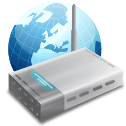 Internet router png. Device earth icon
