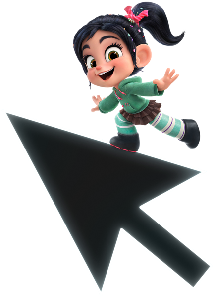Vanellope lean ralph breaks. Internet transparent picture stock