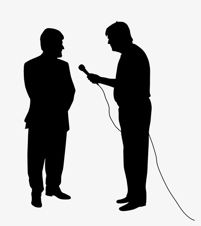 Interview clipart silhouette. Industry news journalism png