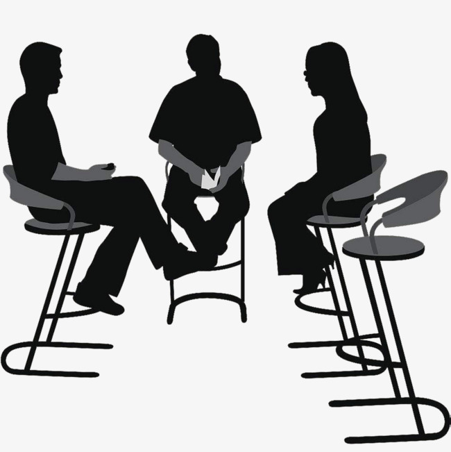 Interview clipart silhouette. Reporter black png image