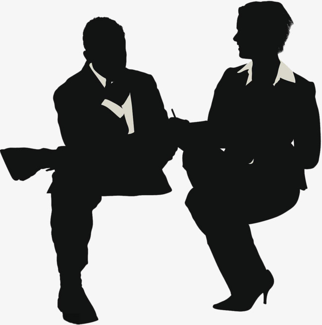 Interview clipart silhouette. Of reporter character png