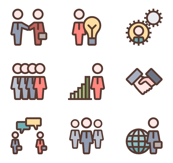 Vector human colorful. Interview icon packs