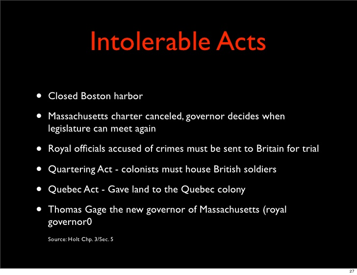 intolerable acts clipart