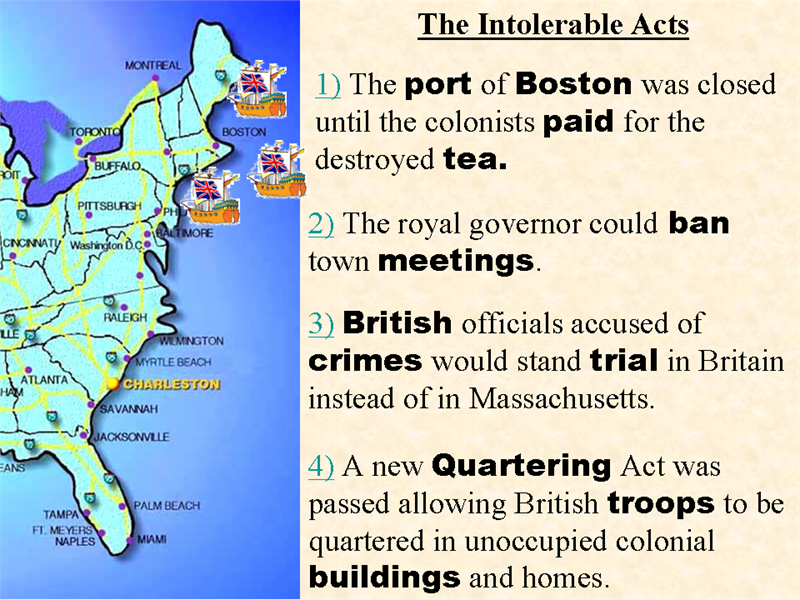 Intolerable acts clipart tea british. Storybook these were to