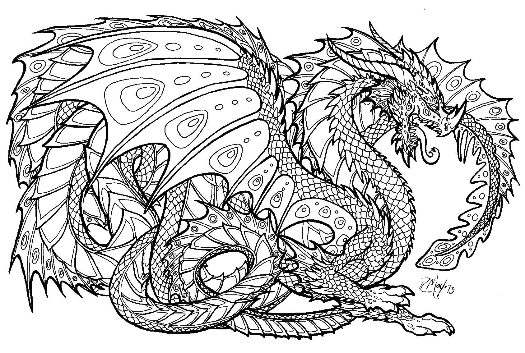 Intricate drawing detailed. Coolest coloring pages printable