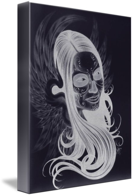 Inverted drawing. Muerta wings by joshua