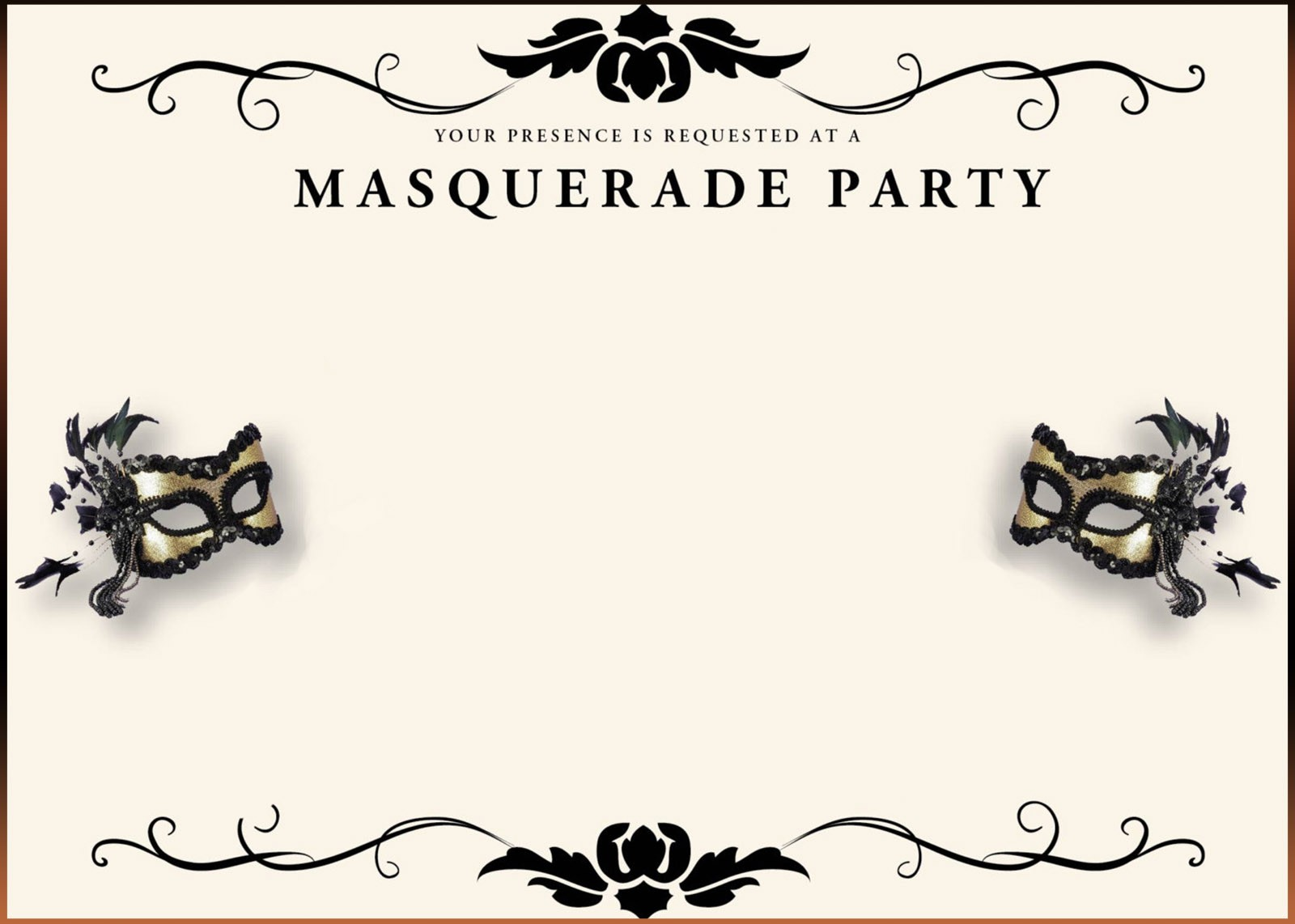 Invitation clipart masquerade. Invitations template free agtion