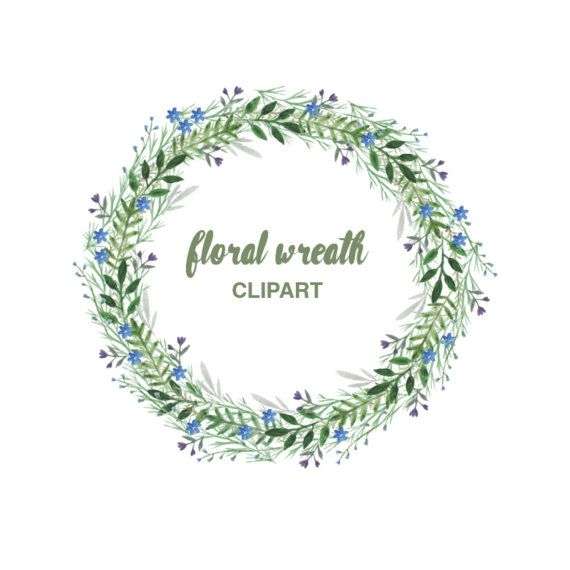 Invitation clipart wreath. Floral instant download hand