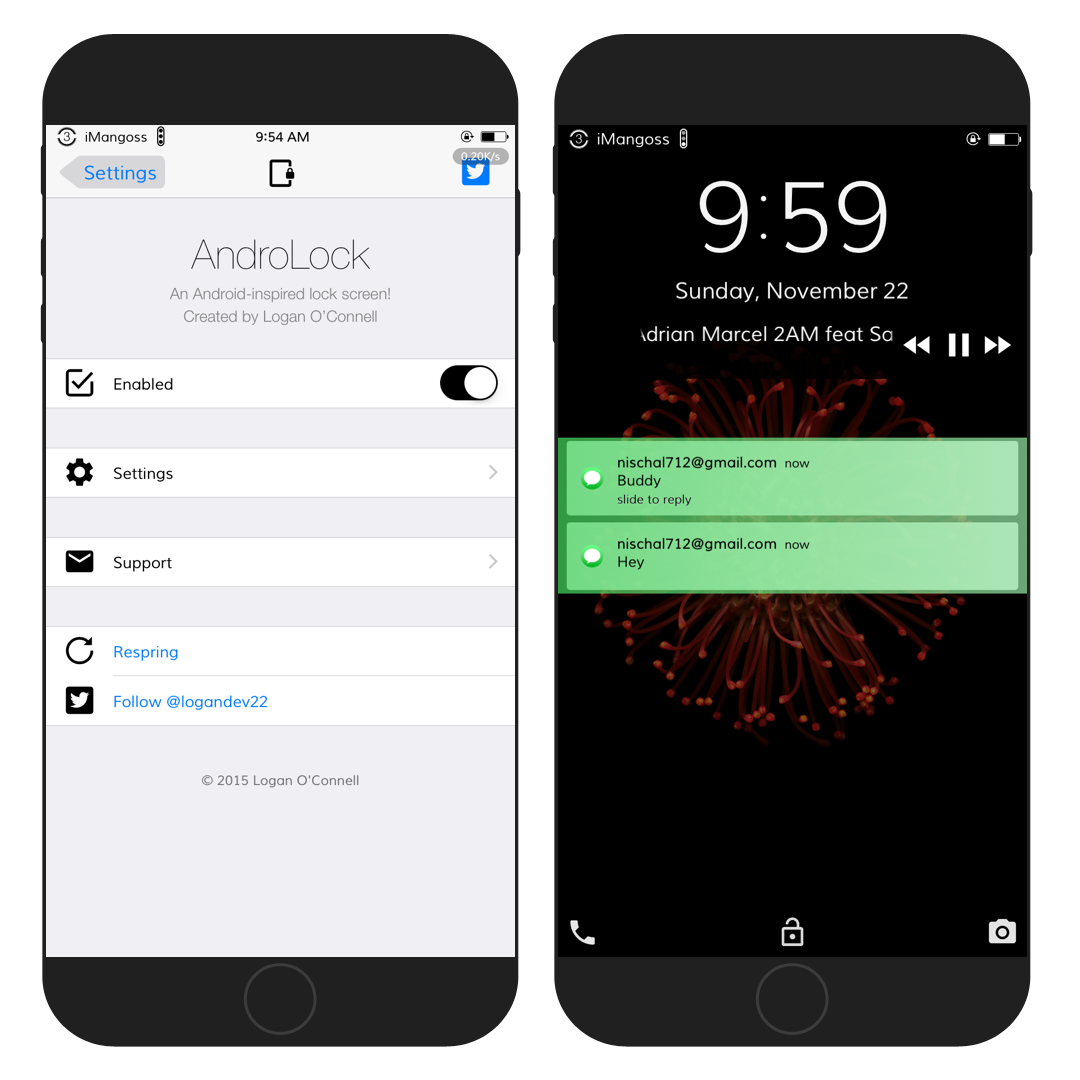 Ios 7 lockscreen buttons png. Androlock android inspired for