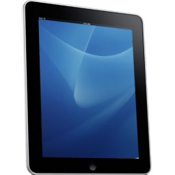 Ipad clip tablet. Black and white