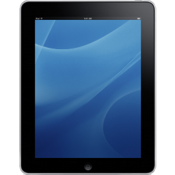 Ipad clipart apple ipad. Blue background icon png