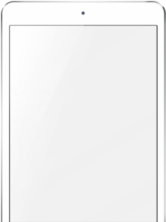 Ipad template png. Download white mini image