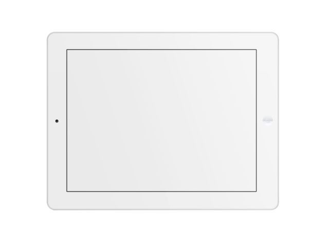 Ipad transparent png. Placeit mockup of white