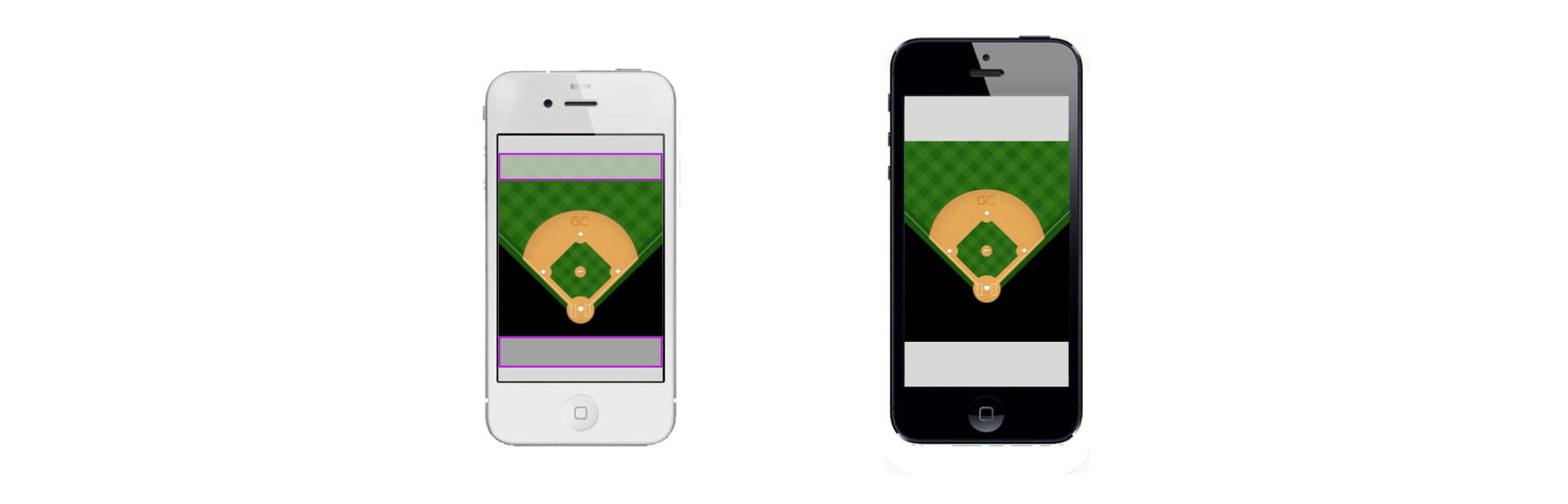 Iphone 5 real size png image. Building a baseball field