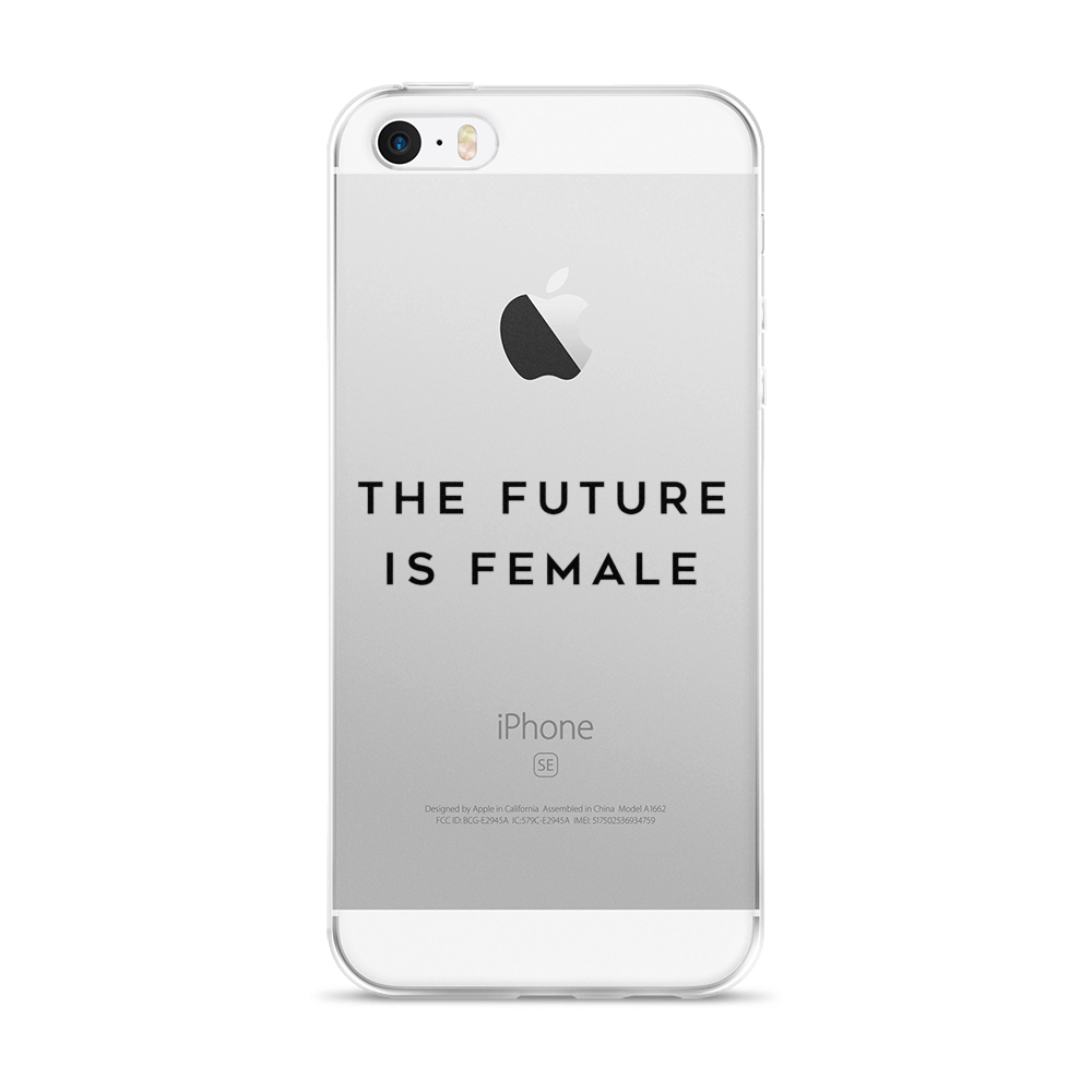 The future is female. Iphone 5 real size png image black and white download