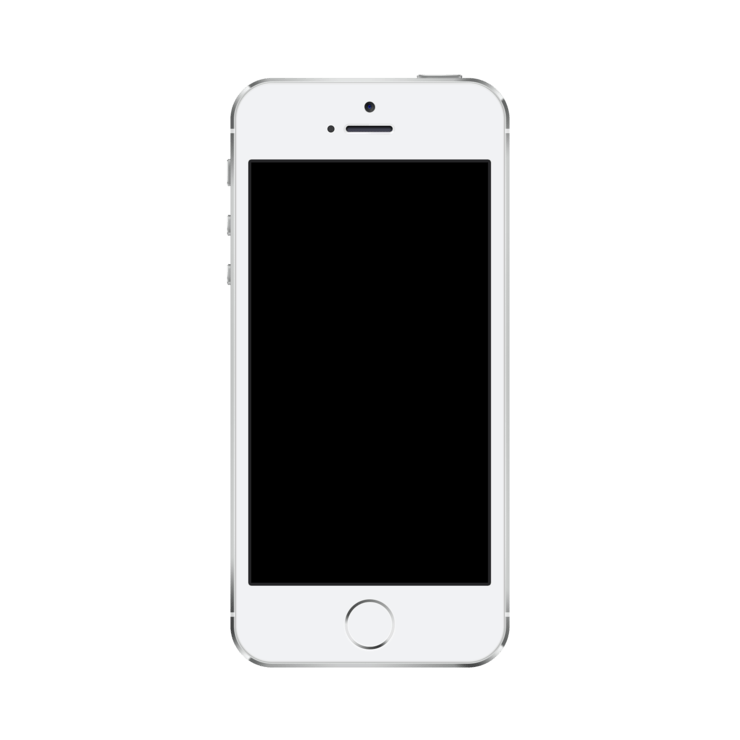 Mockuphone s mockup template. Iphone 5 real size png image vector freeuse