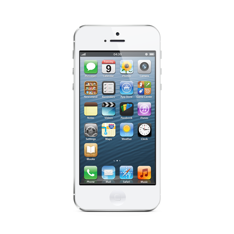Iphone 5 white png. Apple gb