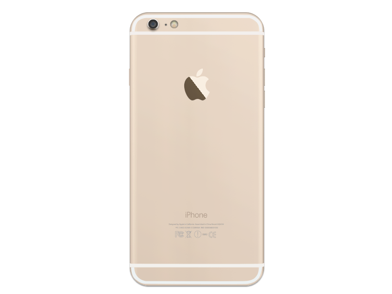 Iphone 6 plus gold png. Back sketch freebie download