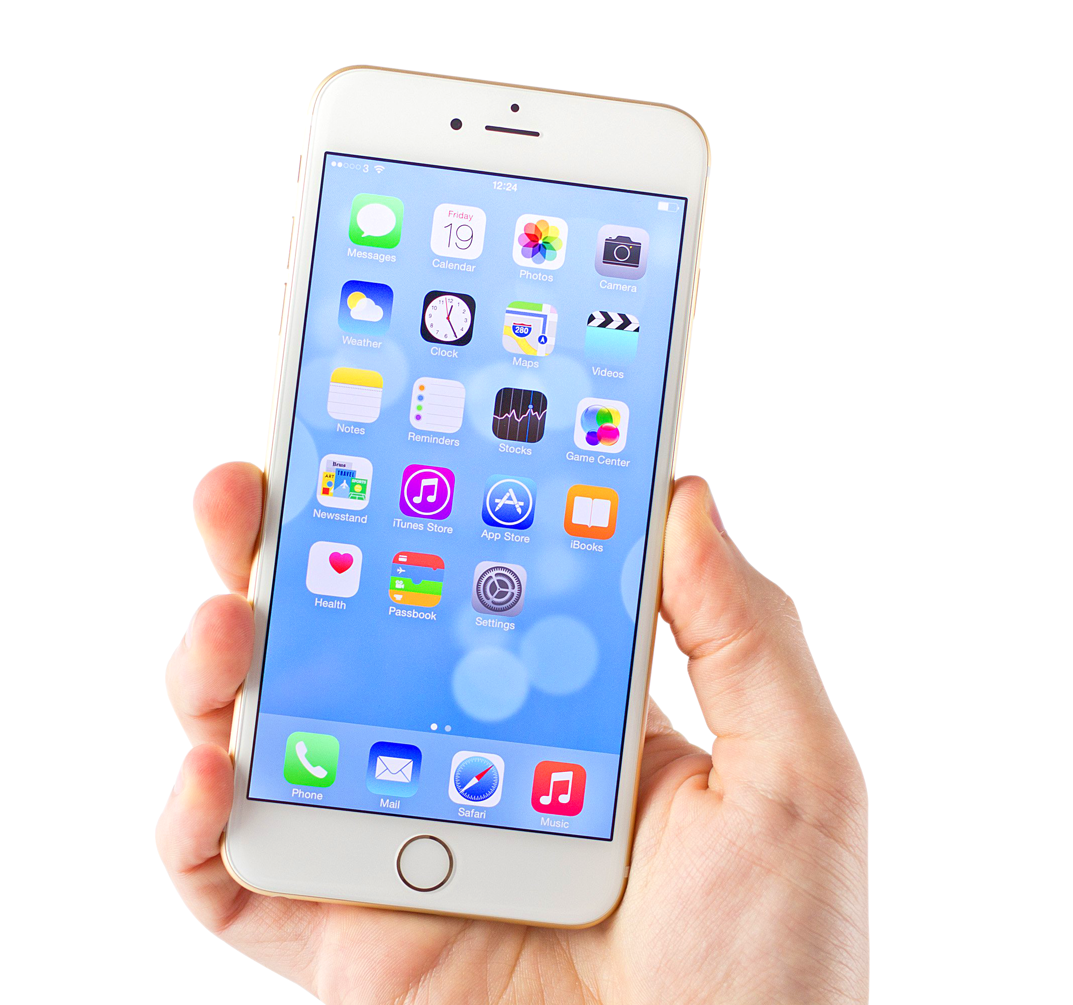 Iphone 6 png. White apple image purepng