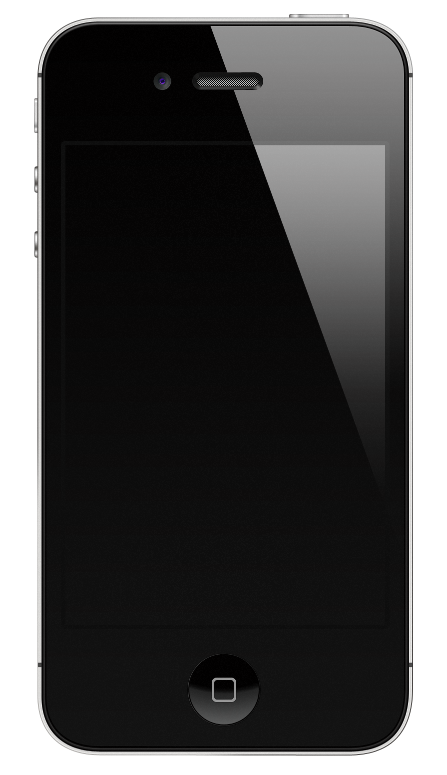 Iphone 7 blank screen png. Black s with highlight